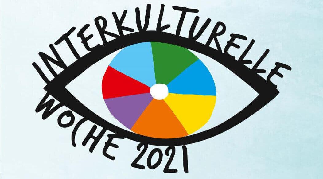 Logo der Interkulturellen Woche 2021 mit dem Hashtag #offen geht